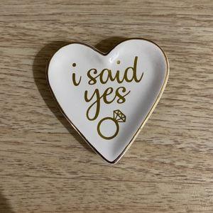 Heart Shaped Engagement Ring Trinket Dish
